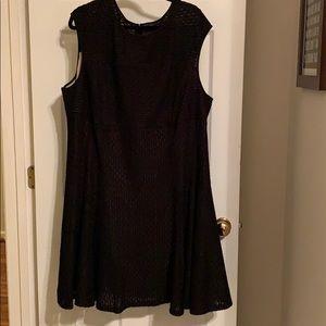 Gabby Skye fit and flare black dress size 24w